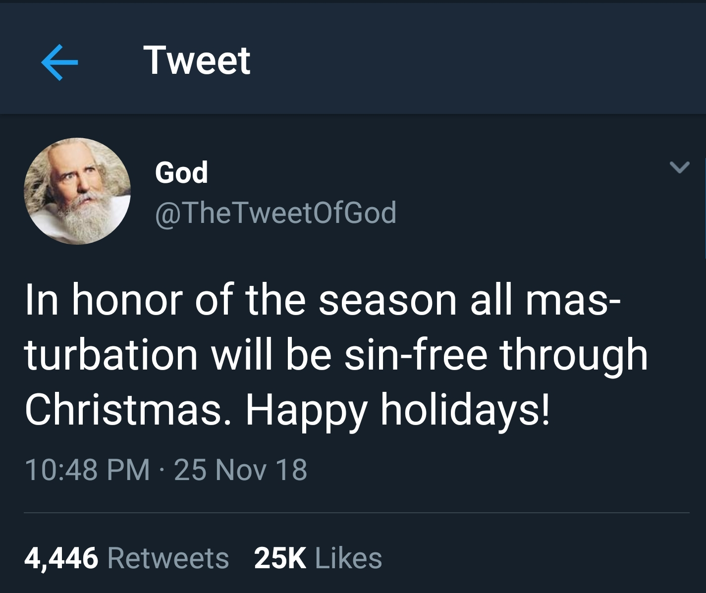 God has spoken. - meme