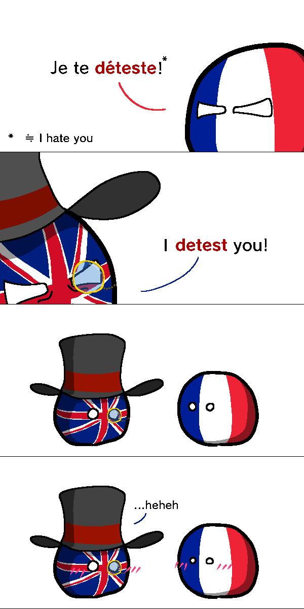 Tsunderes europeus - meme