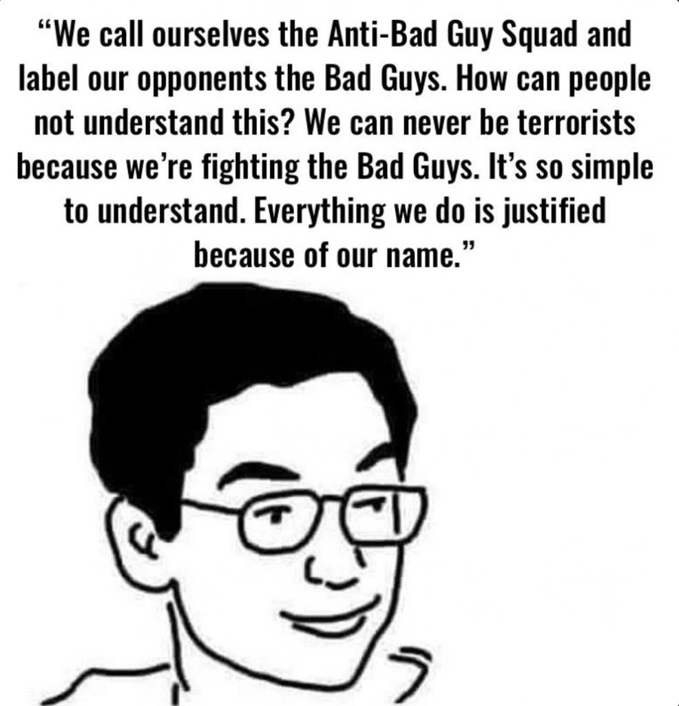 You are all bad guys - meme