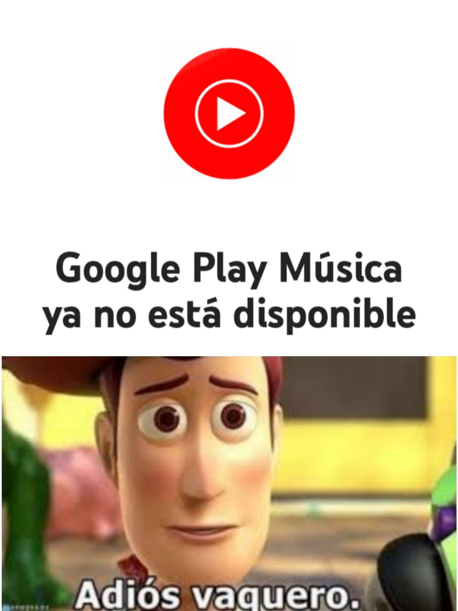 RIP a la música gratis sin anuncios - meme