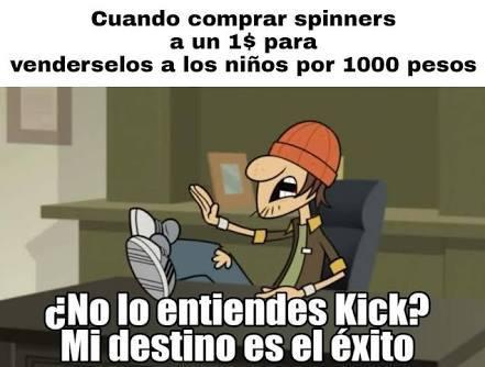 Yo no vendía mis spinners porque estaban caros - meme