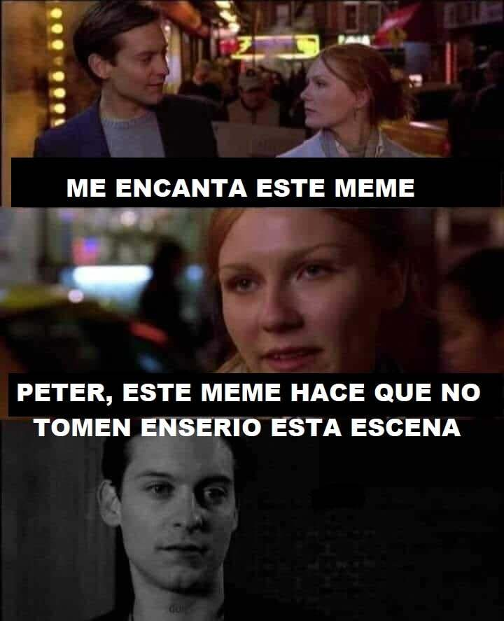 spiderman y mary jane - meme