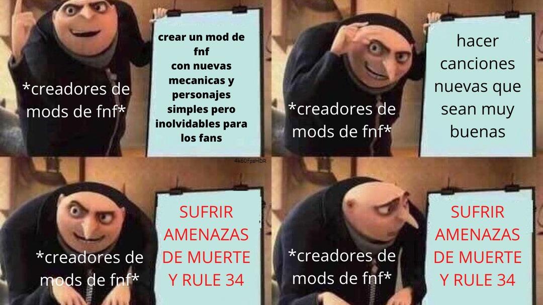 Los morros bien mecos funando mods - meme