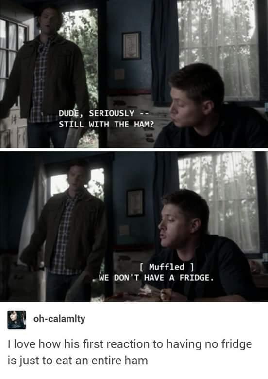 Sam questions ham. - meme
