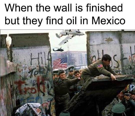 Oil in Mexico - meme