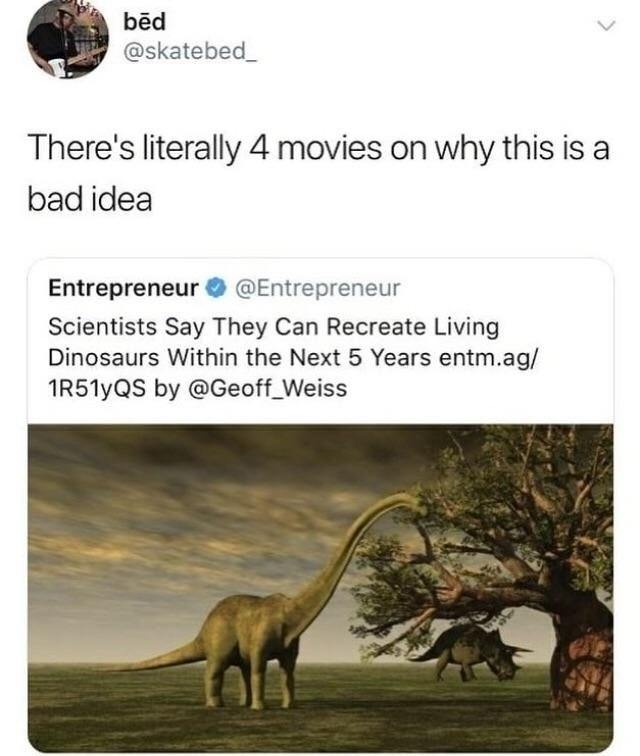 Finally we'll be able to buy a dinosaur - meme