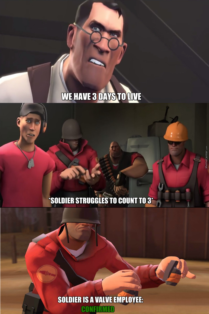 solder from TF2 is a VALVe employee - meme