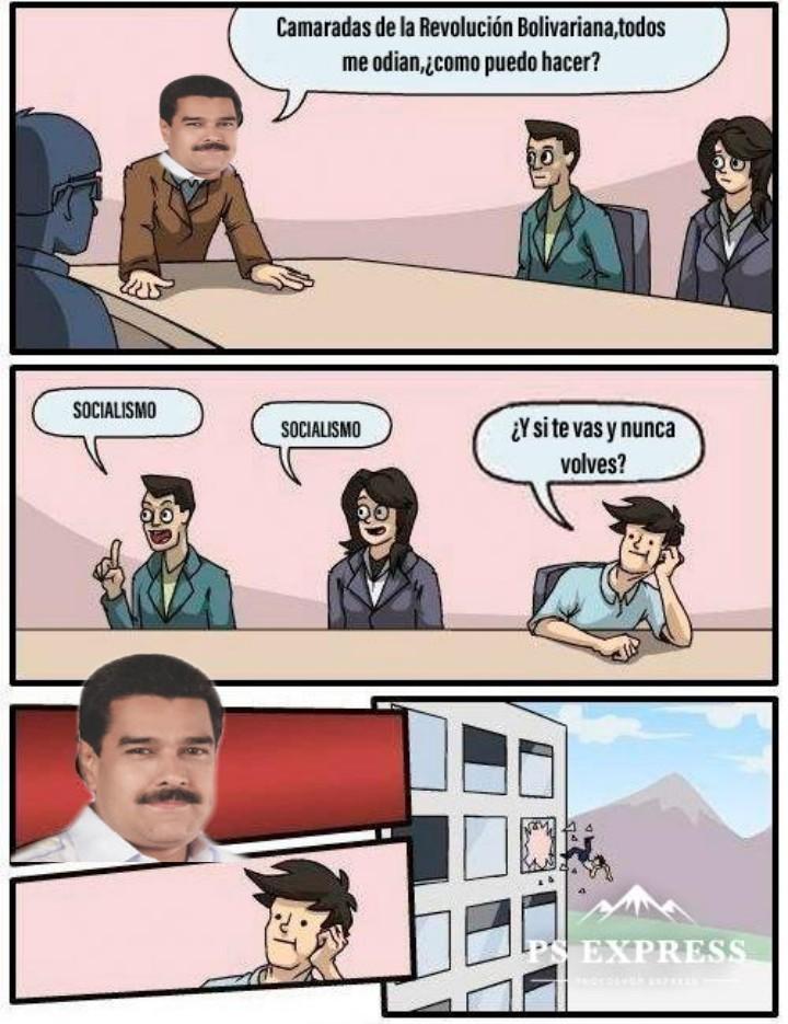 Asi me imagino las ideas que le dan a Maburro - meme