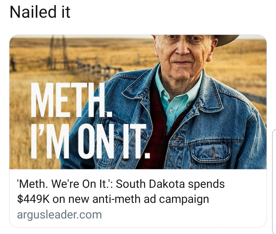Ever been so hopped up on meth u spent $449K to tell everyone? - meme