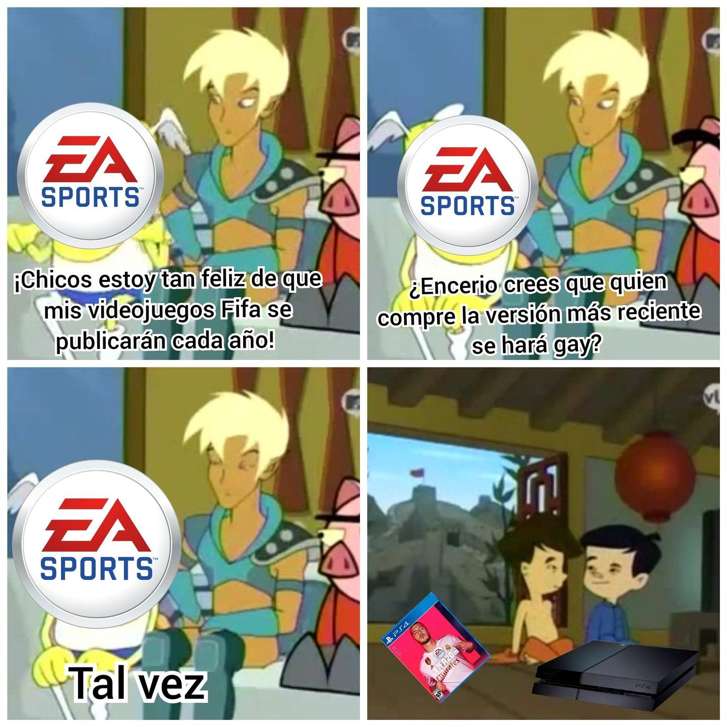 Futuro gay asegurado con el Fifa - meme