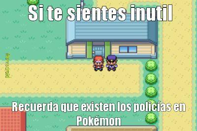 Policías en pokémon... - meme