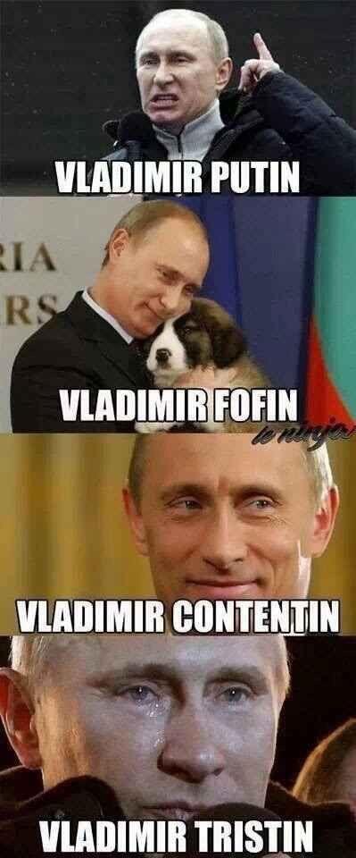 Vladimir, com suas várias faces ... - meme