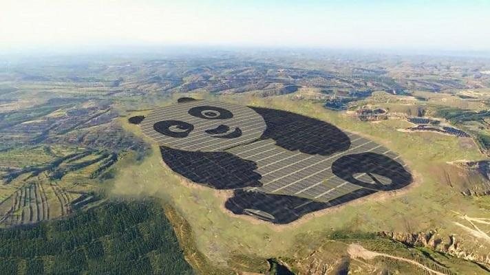 Chinese solar farm - meme