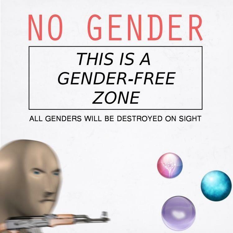 No gender - meme