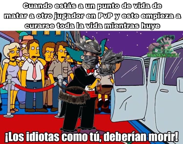 El PvP de Dark Souls y Bloodborne - meme