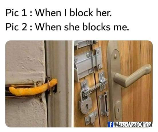 There are two types of block - meme