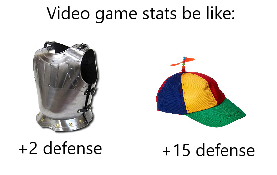 Video games stats be like - meme