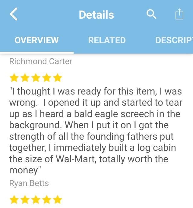 The item was a US shirt - meme