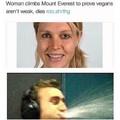"""""""Cette femme grimpe l'everest pour prouver que les vegans ne sont pas faibles ,meurt"""""""