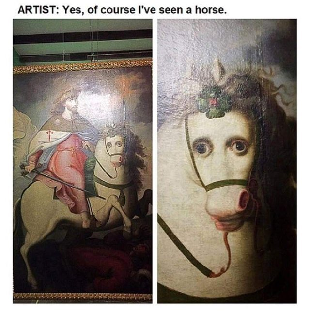 Yes, of course I have seen a horse - meme