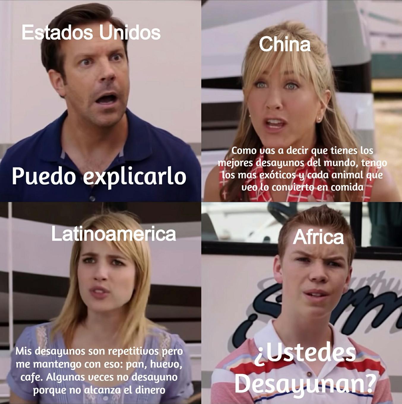 Pobre África - meme