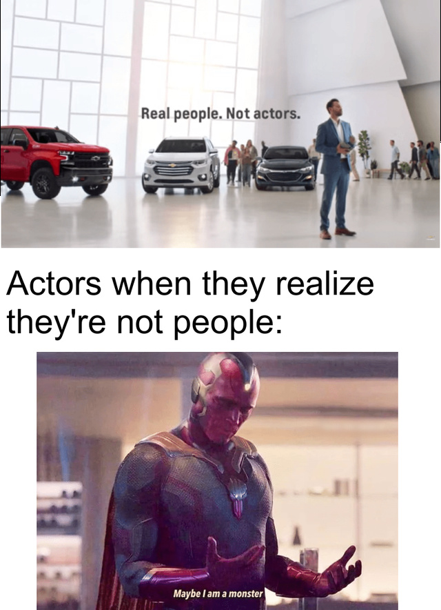 Actors are not real people - meme
