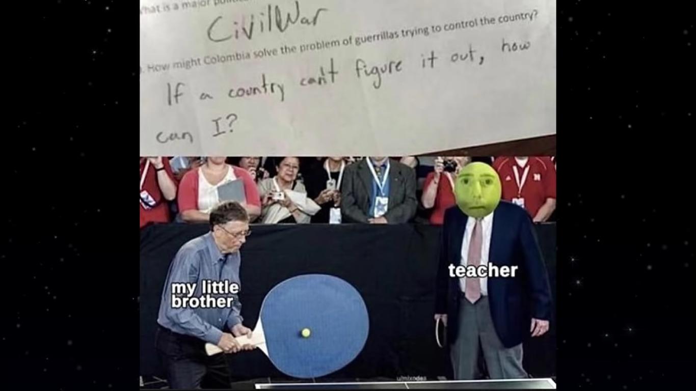 no no, hes got a point - meme