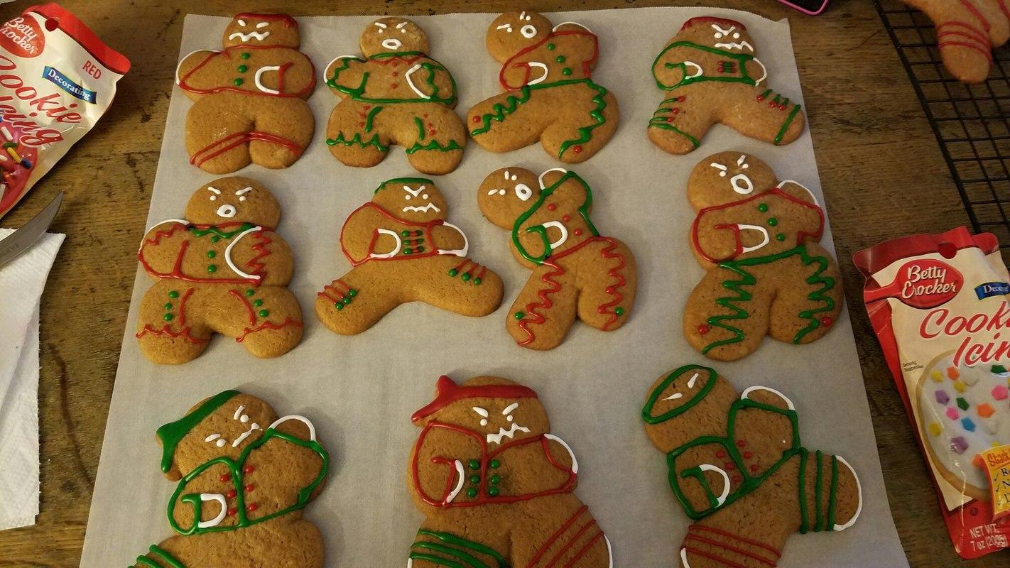 Ninja Gingerbread Dudes - meme