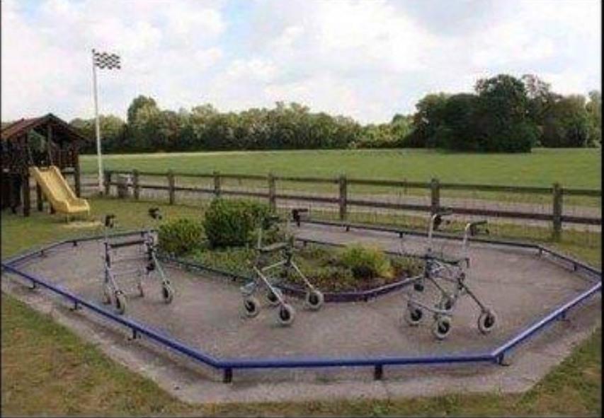 Cart track for grandfathers.. - meme