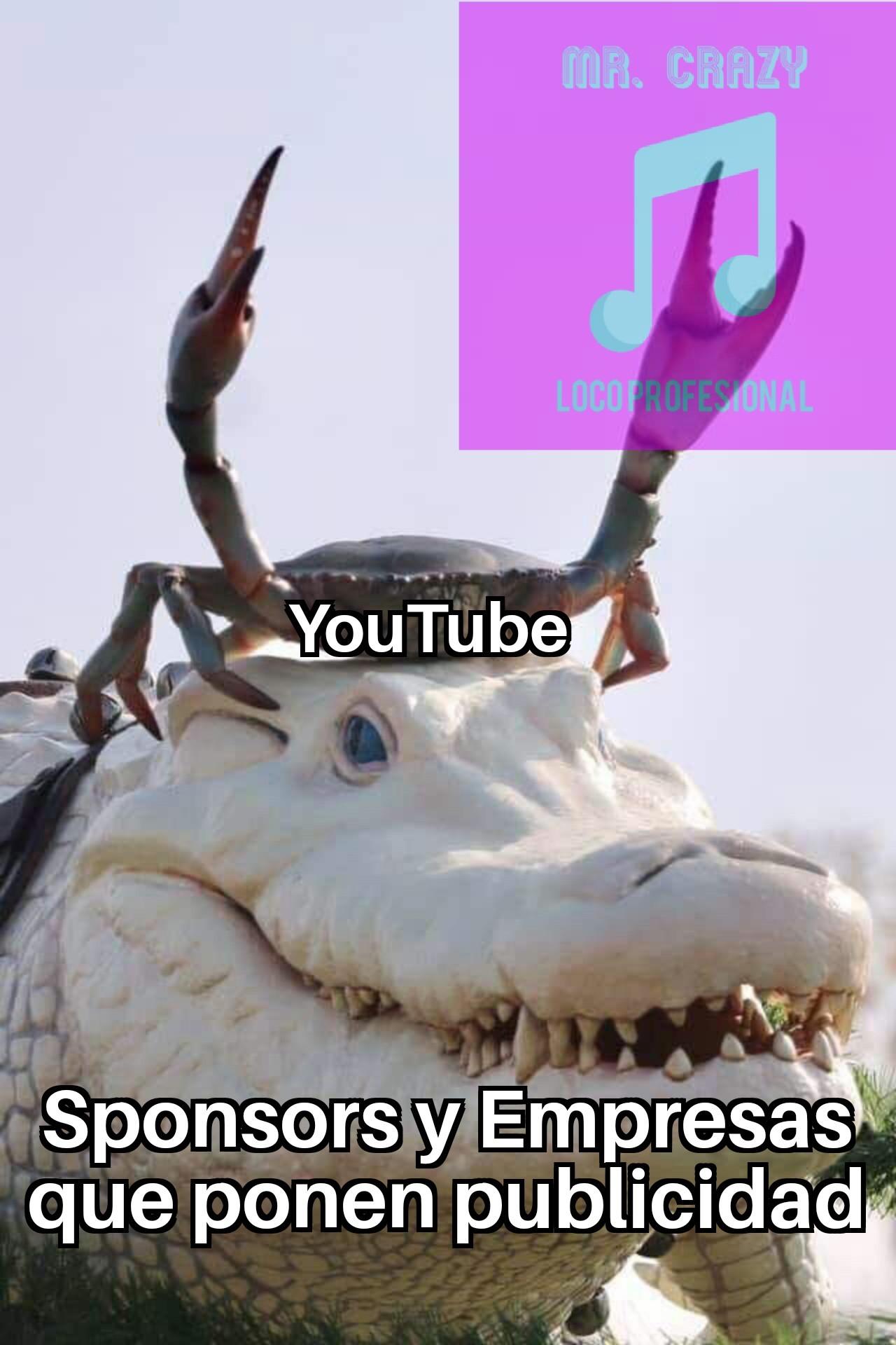 Tanto los Youtubers como la página dependen de ellas - meme