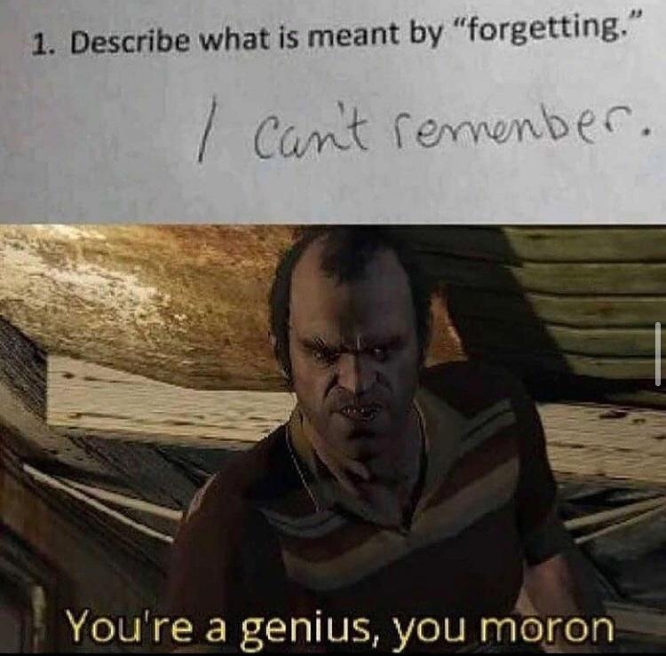 you're genius is showing - meme