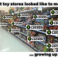 What toy stores looked like to me... growing up poor