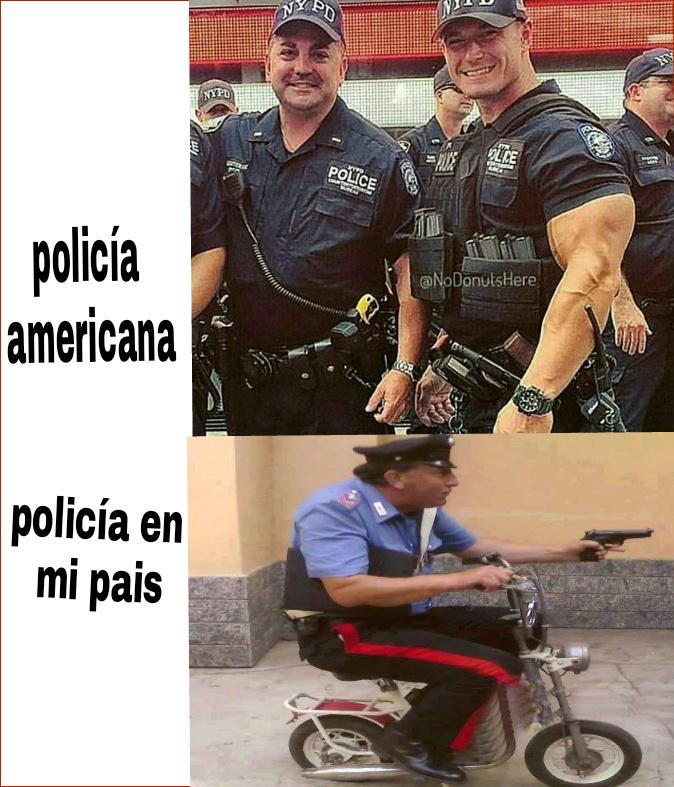 La policía - meme