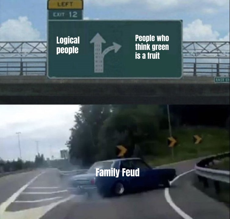 The people family feud chooses - meme
