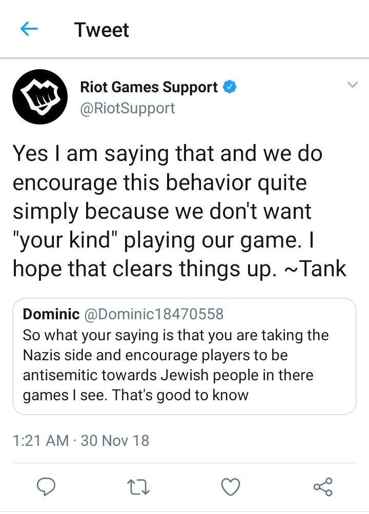 Riot Games Twitter is racist af - meme
