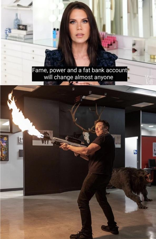 Fame, power and a fat bank account will change almost anyone - meme