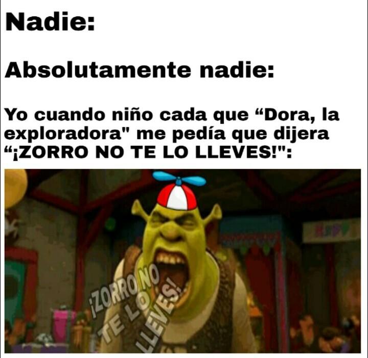 Dora, la exploradora hizo parte de mi infancia - meme