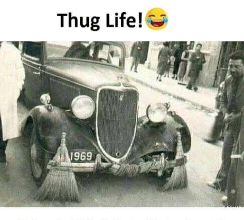 God level thug level - meme