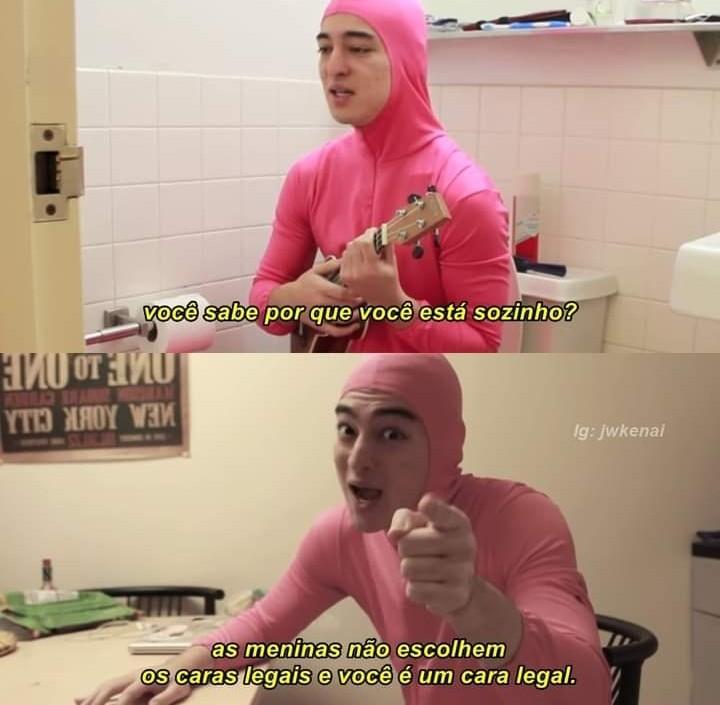RIP Pink Guy - meme