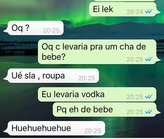 Vodka e os carai - meme