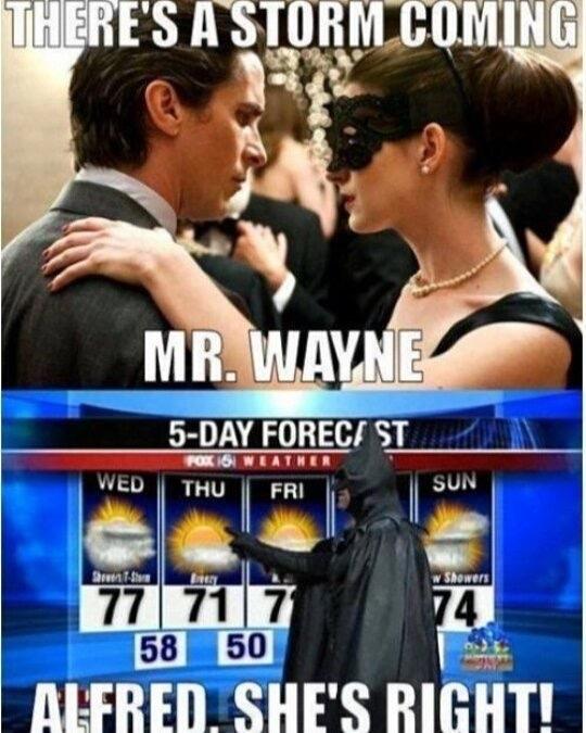 la météo par Batman - meme