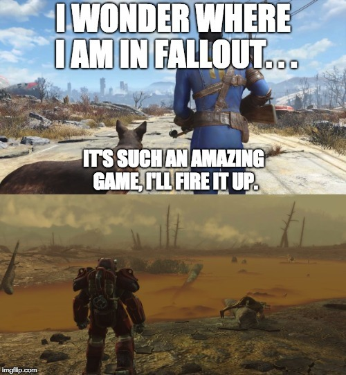 I rlly do love fallout tho - meme