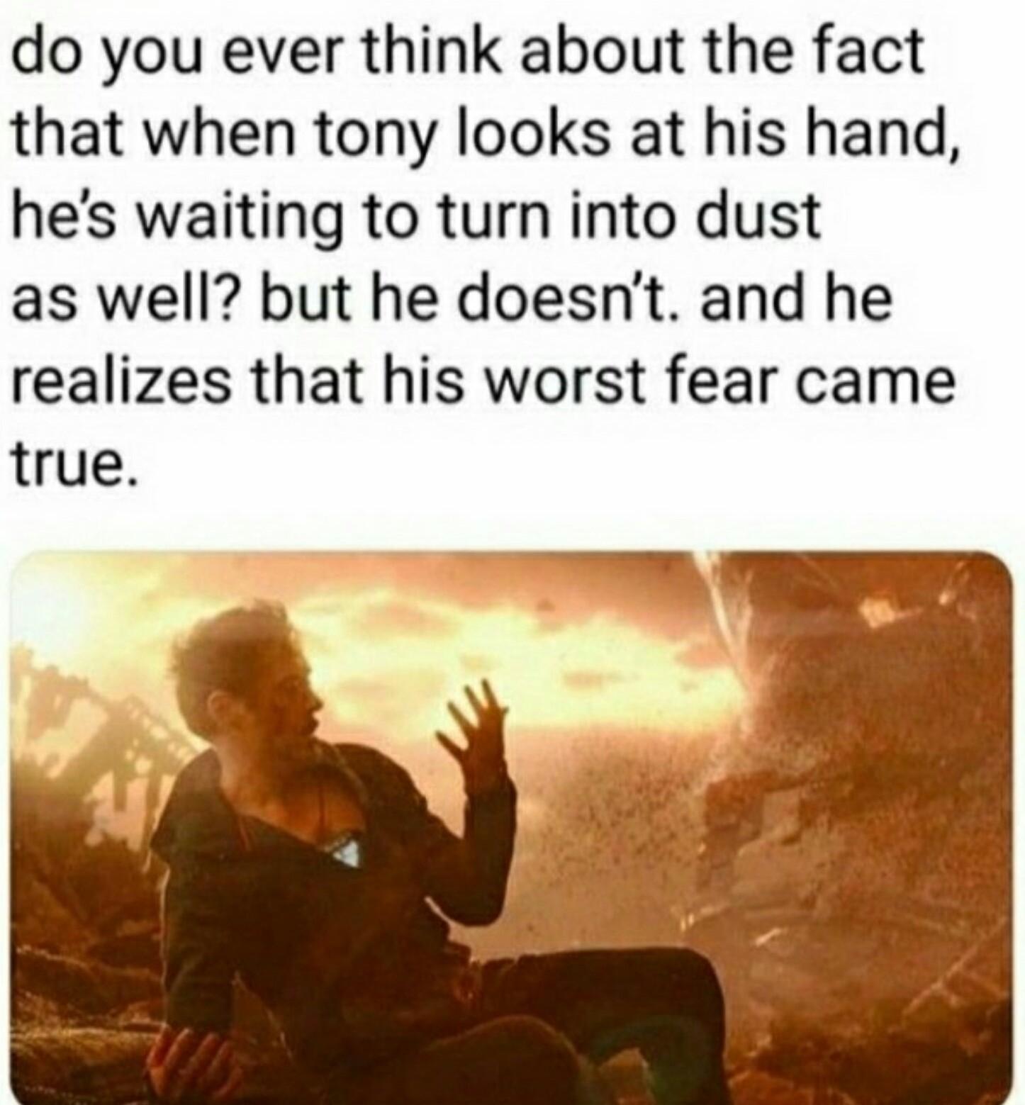 Oof, poor Tony. - meme