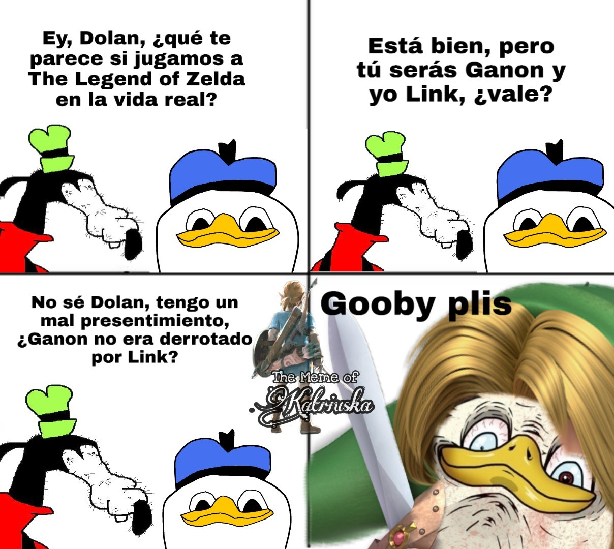 Gooby plis de Zelda - meme