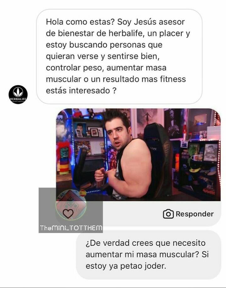 Ya se nota el gym ttes - meme