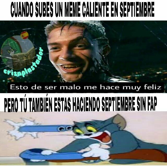 Septiembre si fap :'( - meme