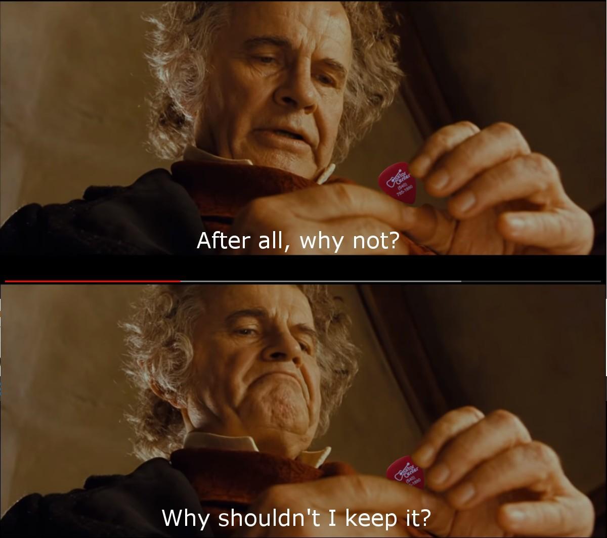 If lost, do not return to Mordor. - meme