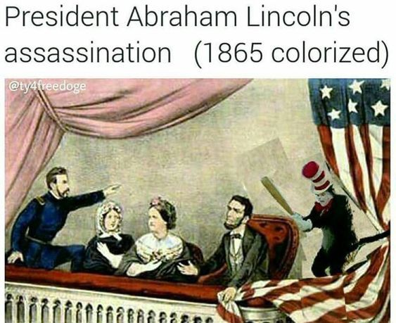 o no mister Lincoln look out - meme