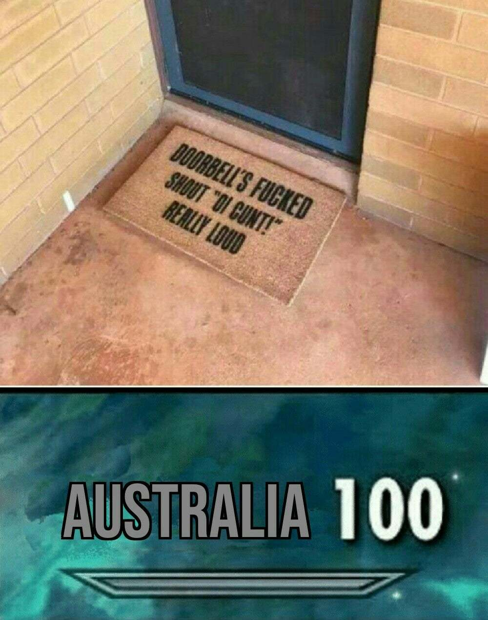 Australians are just British Texans - meme