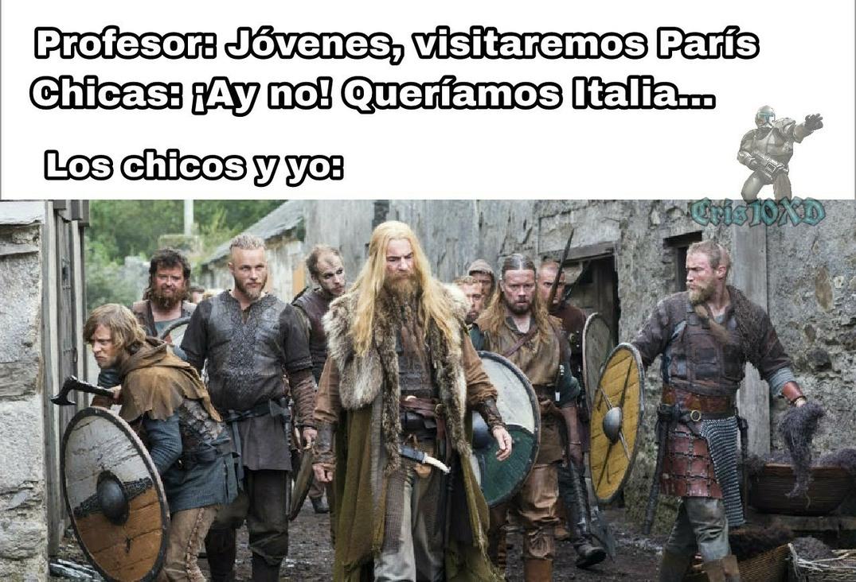 Vikingos ksksksjaidks - meme